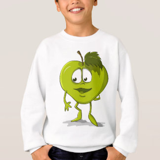 Apple Funny Kindness Cartoon Character Sheet Cute Sweatshirt