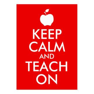 Apple gardent le calme et l enseignent dessus carte de visite