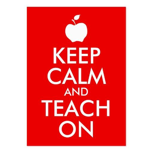 Apple gardent le calme et l'enseignent dessus carte de visite