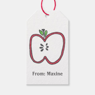 Apple Gift Tag Pack Of Gift Tags