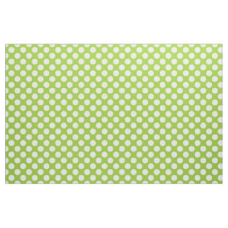 Apple Green and White Polka Dots Fabric