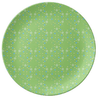 Apple Green Bubbles Pattern Porcelain Plate