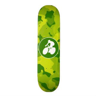 Apple Green Camo Cycling Skateboard Deck