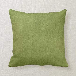 Apple Green Faux Texture Throw Pillow