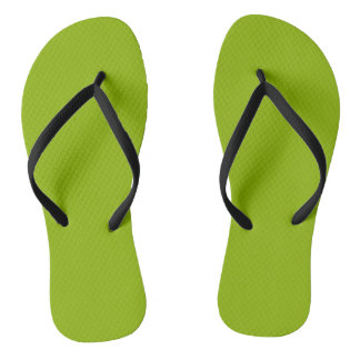 Apple Green Flip Flops