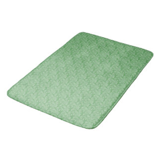 Apple Green Fractal-Style Bath Mat