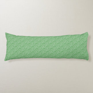 Apple Green Fractal-Style Body Pillow