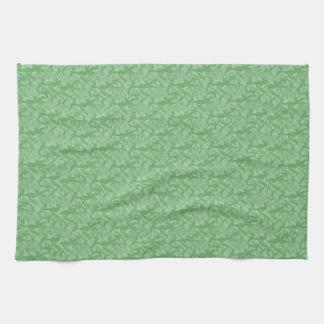 Apple Green Fractal-Style Kitchen Towel