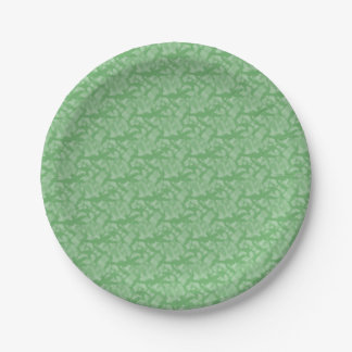 Apple Green Fractal-Style Paper Plate