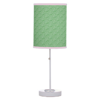 Apple Green Fractal-Style Table Lamp