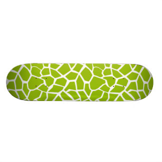 Apple Green Giraffe Animal Print Skate Board Decks
