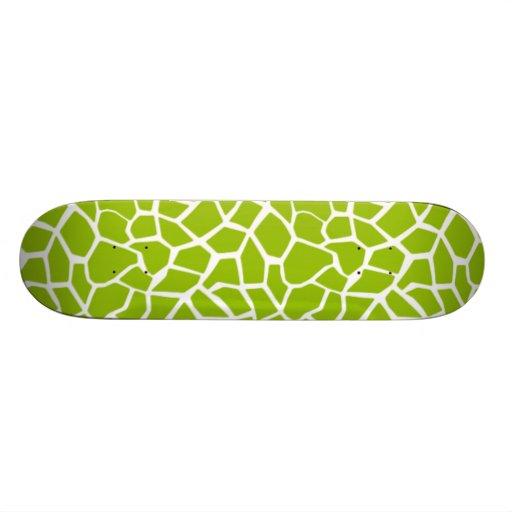 Apple Green Giraffe Animal Print Skate Board Decks