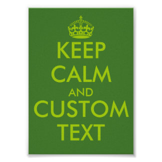 Apple green KeepCalm posters | Personalized text