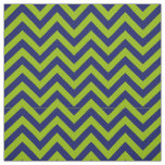 Apple Green Navy Blue LG Chevron Pattern 12I Fabric
