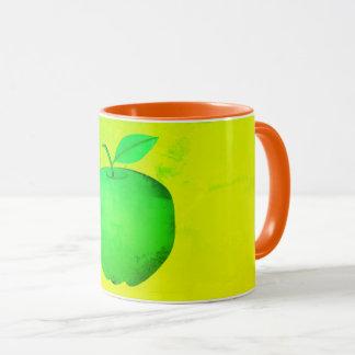 Apple Green Neon Vibrant Trendy Simple Fresh Cool Mug
