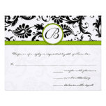Apple Green Response Card- Postcard Style Personalized Invite