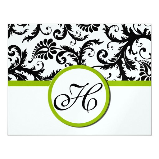 "Apple Green Response Card- Text on Matte Side 4.25"" X 5.5"" Invitation Card"