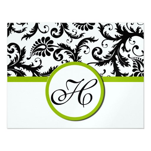 Apple Green Response Card- Text on Matte Side Personalized Invites