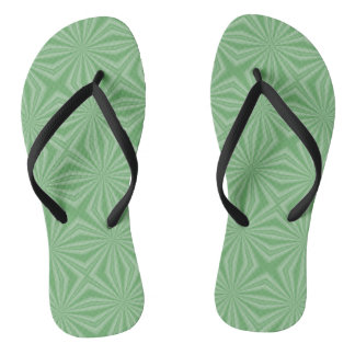Apple Green Squiggly Square Flip Flops