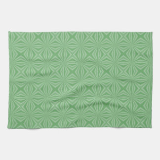 Apple Green Squiggly Square Kitchen Towel