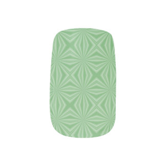 Apple Green Squiggly Square Minx Nail Art