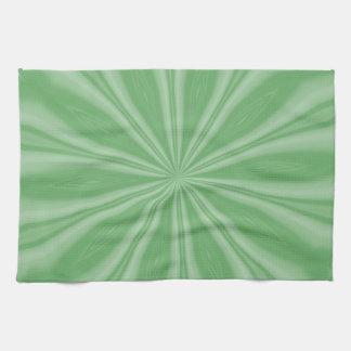 Apple Green Streaks Towels