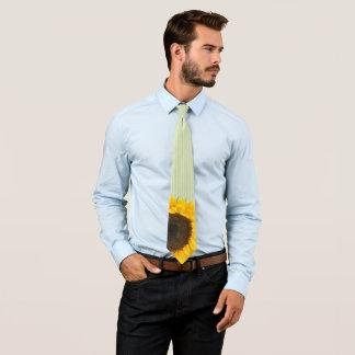 Apple Green Sunflower Wedding Tie Green Stripes