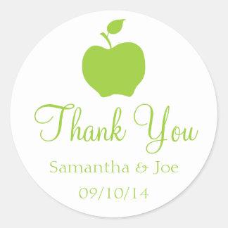 Apple Green Thank You Round Sticker