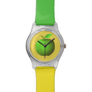 Apple Green Yellow Trendy Simple Fresh Stylish Watch