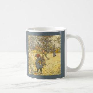 Apple  Harvest by Carl Larsson Classic White Coffee Mug