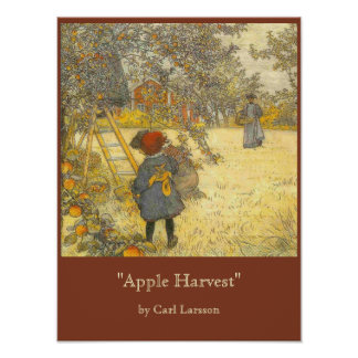 Apple Harvest by Carl Larsson Poster