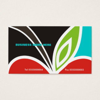 Apple Heart Teacher's Business Card-Turquoise Business Card