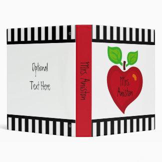 Apple Heart Vinyl Binder