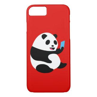 """Apple iPhone 7 Case: """"Selfie Panda"""" iPhone 8/7 Case"""