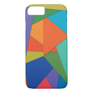 Apple iPhone 7 Phone Case w/ Colorful Polygons