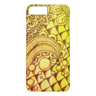 Apple iPhone 7 Plus, Barely There Gold Doodle iPhone 8 Plus/7 Plus Case