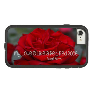 Apple iPhone 7, Tough Xtreme Case My Love Red Rose