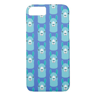 Apple iPhone Case Blue Llama