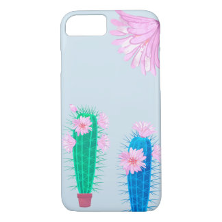 Apple iPhone case with cactus and flower