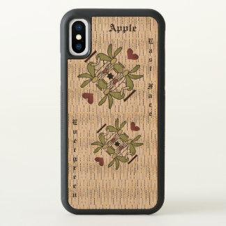 Apple iPhone X Bumper Cherry Wood Case