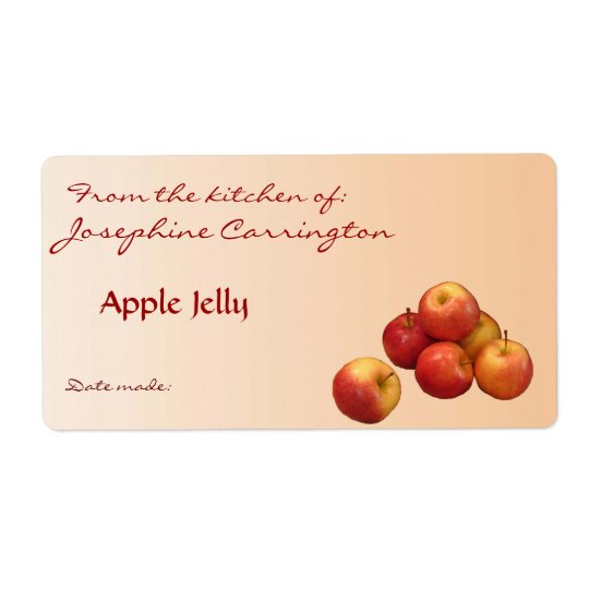 Apple Jelly Canning Labels