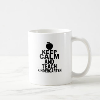 Apple Keep Calm and Teach Kindergarten Tees.png Coffee Mug