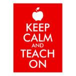Apple Keep Calm and Teach On Business Card