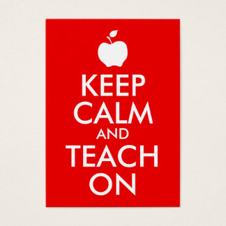 Apple Keep Calm and Teach On Business Card