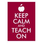 Apple Keep Calm and Teach On Business Cards