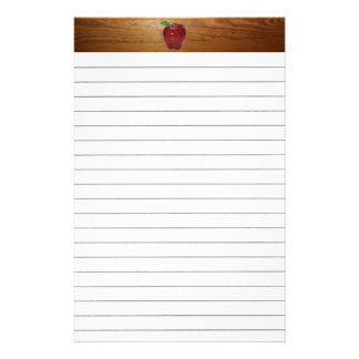 Apple Lined Stationery