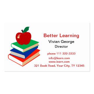 Apple, livres, éducation carte de visite standard