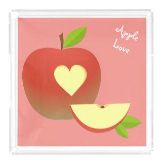 Apple Love Acrylic Tray