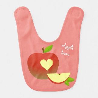 Apple Love Bib