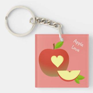 Apple Love Keychain
